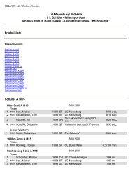 LG Merseburg/ SV Halle 11. Schüler-Hallensportfest am 8.03.2008 ...