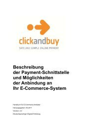 ClickandBuy Dokumentation - Developer Garden
