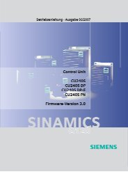 Produkt Information - Siemens Automation and Drives Group