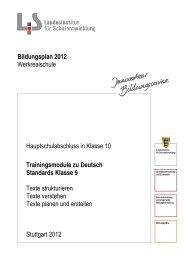 Trainingsmodule zu Deutsch Standards Klasse 9 Texte strukturieren ...