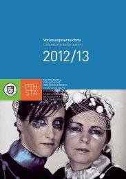 Calendario delle lezioni - Philosophisch-Theologische Hochschule ...