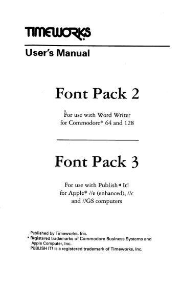 Font Pack 3 - Bombjack.org