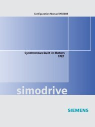 Configuration Manual, Synchronous Built-in Motors 1FE1 - Siemens ...
