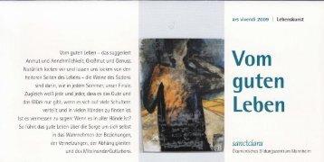 Vom guten Leben', Programm - Krista Paul