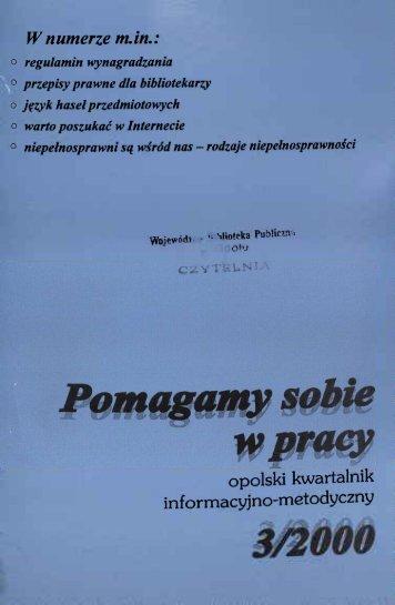 W numerze m.in. - Bibliotekarz Opolski