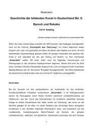 Geschichte der bildenden Kunst in Deutschland Bd. 5: Barock und ...