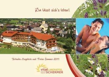 Der perfekte Sommer-Familienurlaub - Vital-Landhotel Schermer ****S