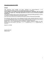 Verwaltungsbericht 2005 - Verbandsgemeindeverwaltung Asbach
