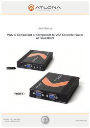 User Manual VGA to Component or Component to VGA ... - Atlona