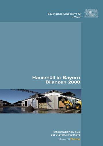 Hausmüll in Bayern Bilanzen 2008 - 3m5.
