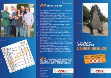 wir setzen uns ein: muster - CDU Ortsverband Seelze
