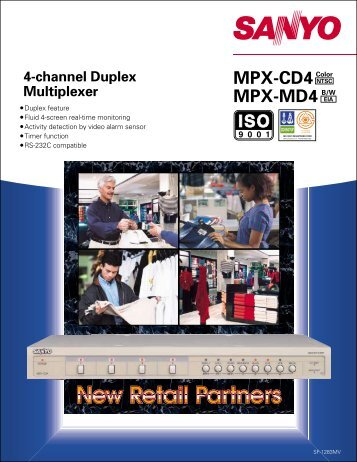 4-channel Duplex MPX-CD4 MPX-MD4 Multiplexer
