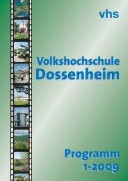 Arbeit und Beruf - vhs Dossenheim