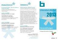 Literatur-Abitur - Stadtbibliothek Stuttgart