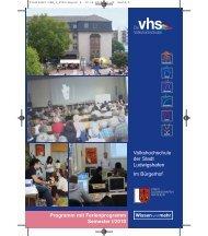 Leitbild der VHS - Volkshochschule