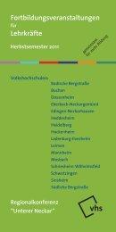 """Regionalkonferenz """"Unterer Neckar"""" vhs - Volkshochschule ..."""