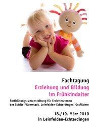 [PDF] Fachtagung Erziehung und Bildung im Frühkindalter - VHS ...