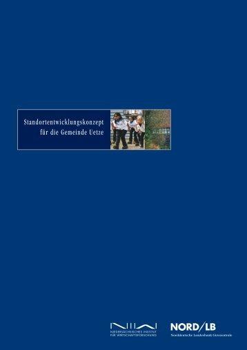 Standortentwicklungskonzept für die Gemeinde Uetze - NIW