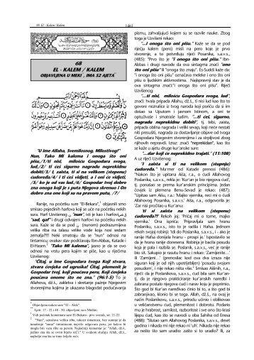 tefsir sure Al-Qalem - pogledati - Islamska zajednica u Hrvatskoj