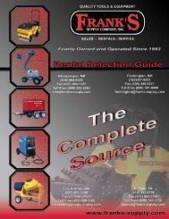 Quality Tools & Equipment Rental Equipment Catalog - Frank's Supply