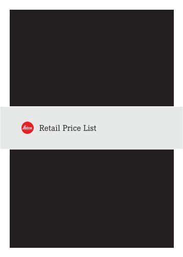 33325 All in One Price List Birdfair - Leica Store Mayfair