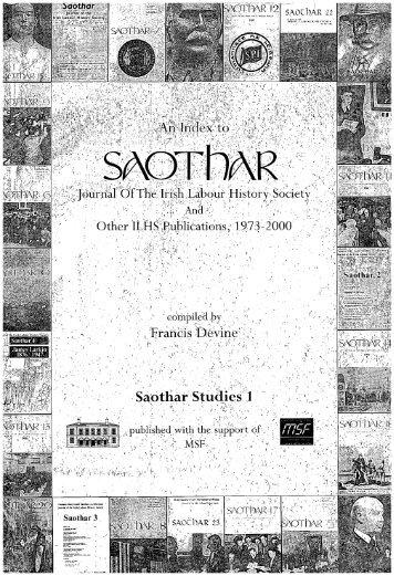 Saothar - Irish Labour History Society