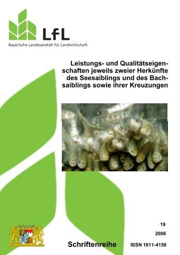 und Qualitätseigenschaften jeweils zweier Herkünfte - Bayerische ...