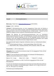 Analytisch-chemisches Praktikum - Institut für Analytische Chemie