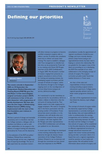 Bulletin October.ps - The Royal College of Surgeons of England
