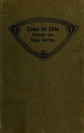 Glossar zu den Liedern der Edda (Saemundar Edda)