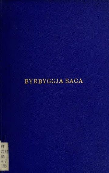 Eyrbyggja saga; - Index of
