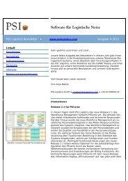 Software für Logistische Netze - PSI Logistics GmbH