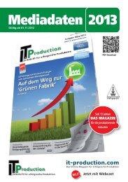 Mediadaten 2013 - IT & Produktion