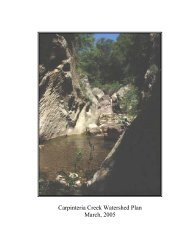 Carpinteria Creek Watershed Plan March, 2005 - California ...