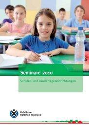 Seminare 2010 - Schulen und Kindertageseinrichtungen - Sichere Kita
