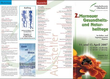 Flyer Messe Natur 08022007 - Naturheilverein Oberland eV