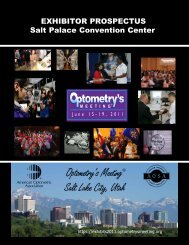 Optometry's Meeting ® Salt Lake City, Utah