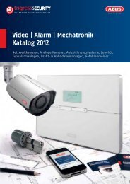 Video | Alarm | Mechatronik Katalog 2012 - TRIGRESS Security