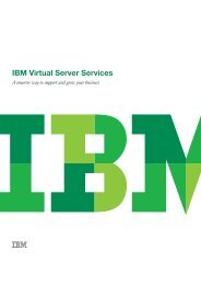 IBM Virtual Server Services lets your organisation access, on ...