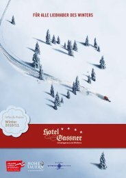 PRElSE WlNTER 2010/2011 - Hotel Gassner