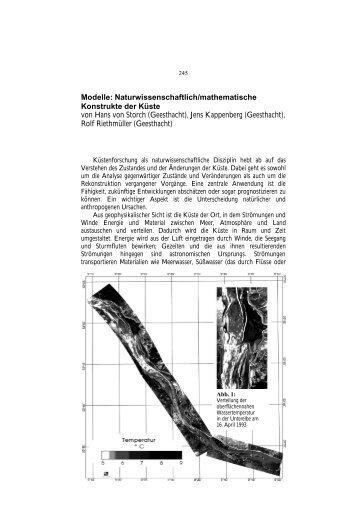 Modelle: Naturwissenschaftlich/mathematische Konstrukte der Küste ...