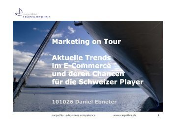 Social Graph im E-Commerce - Marketing on Tour