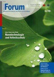 Nanotechnologie und Arbeitsschutz - DGUV Forum