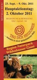 2. Oktober 2011 - TAG DER REGIONEN Niedersachsen Bremen