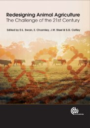 Redesigning Animal Agriculture
