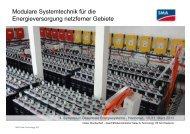 Modulare Systemtechnik für die Energieversorgung netzferner Gebiete