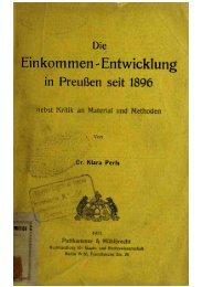 II. Die Geideinkomnienljewegiing in den Jahren 1896—1906.