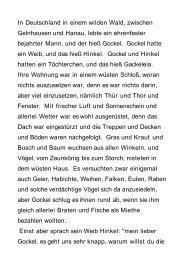 In Deutschland in einem wilden Wald, zwischen ... - BookRix