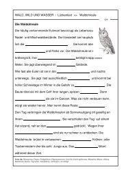 Arbeitsblatt Waldohreule