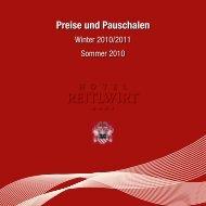 Preise und Pauschalen - Hotel Reitlwirt
